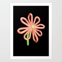 Balloon Flower Art Print