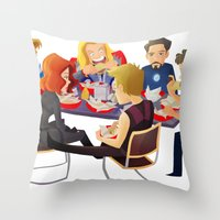 Avengers- Shawarma Throw Pillow