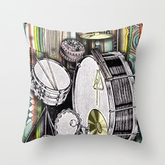 Drum Kit Throw Pillow