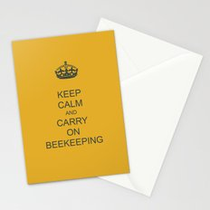 Keep Calm and Carry on Beekeeping Stationery Cards