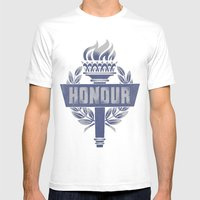 Honour Mens Fitted Tee White SMALL