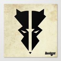 Badger Canvas Print