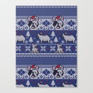 Christmas Frenchie Canvas Print