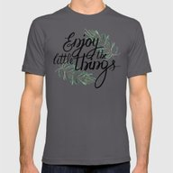 Enjoy The Little Things! Mens Fitted Tee Asphalt SMALL