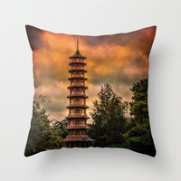 Kew Pagoda Throw Pillow
