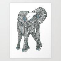 Humble elephant Art Print