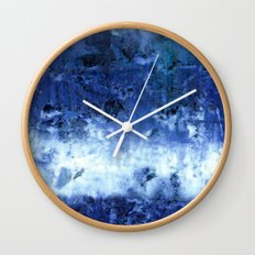 Saltwater Silk Blue Wall Clock