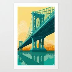 Manhattan Bridge NYC Art Print