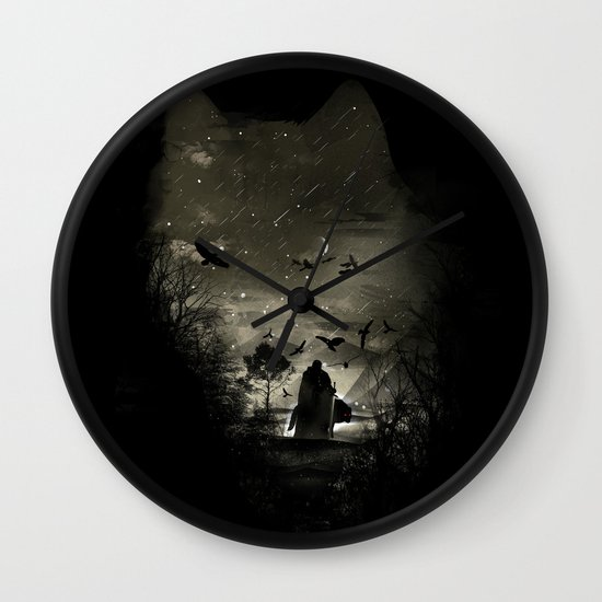 The Lord Crow Wall Clock