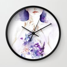 Let Me Lie On Flowers An… Wall Clock