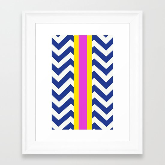 Raja Summer Chevron  Framed Art Print