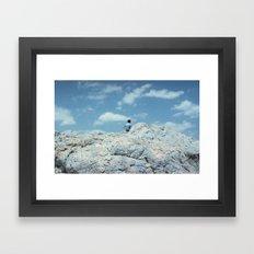 MEN IN BLUE Framed Art Print