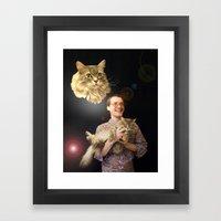 Thus Spake Fluffy Framed Art Print