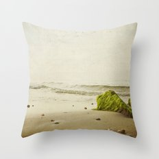 the beach rocks Throw Pillow