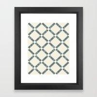 Navajo Winter Pattern Framed Art Print