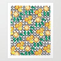 Citrus And Leaves II Art Print