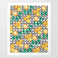 Citrus and Leaves II Art Print