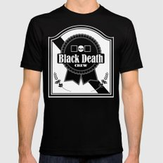 Black Death Ribbon Mens Fitted Tee Black SMALL