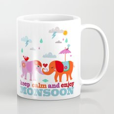 keep calm and enjoy monsoon Mug