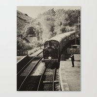 Sepia steam train  Canvas Print