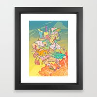 FURY Framed Art Print