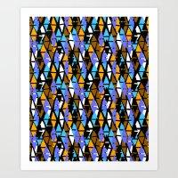Harlequin pattern Art Print