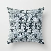 Black Burros Throw Pillow