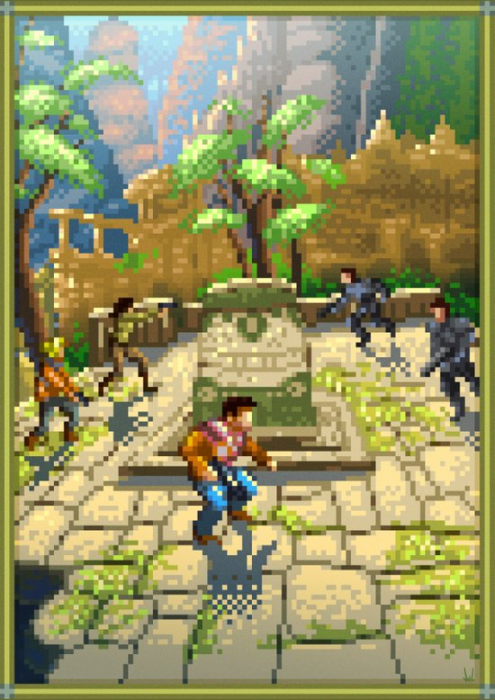 Pixel Art series 7 : Shamballa Canvas Print