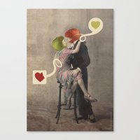 Loving Apple Canvas Print