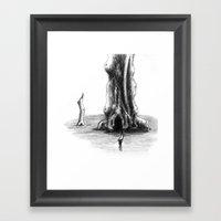 Sea Tree Framed Art Print