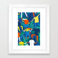 Working together Framed Art Print