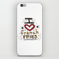I Love French Fries iPhone & iPod Skin