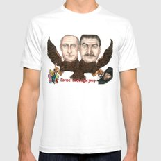 Голос свободы умер (Voice of Freedom Dies) Mens Fitted Tee White SMALL