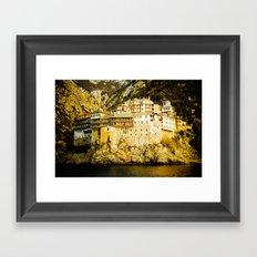 Grigoriou Monastery, Mount Athos, Greece Framed Art Print
