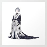 Yuki Onna Art Print
