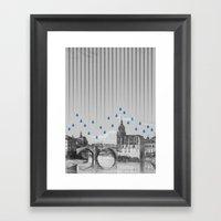 La Lluvia En Bilbao Es U… Framed Art Print