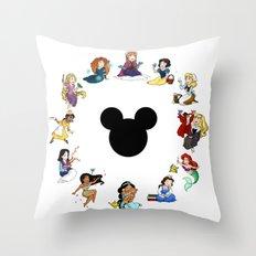 Time To Be A Princess (Anna) Throw Pillow