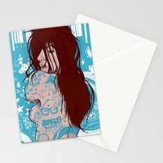 Ms. Tattoo-Girl Stationery Cards