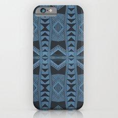 Blue Doodle Geometry  Slim Case iPhone 6s
