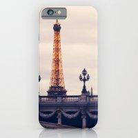 iPhone & iPod Case featuring la tour eiffel by Liz Rusby