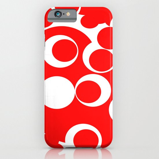 red circles iPhone & iPod Case