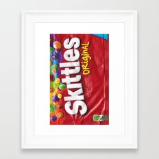 Skittles Framed Art Print