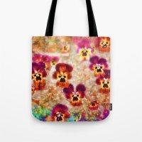 Spring Pansies Tote Bag