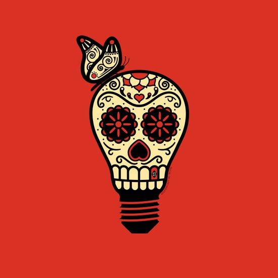 Noche de los Muertos - Rojo Art Print