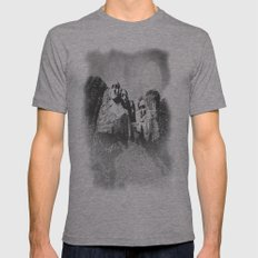 Rushmore at Night Mens Fitted Tee Athletic Grey SMALL