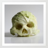 360. Skull Of Cabbage Art Print