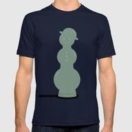 Bubbleman Mens Fitted Tee Navy SMALL