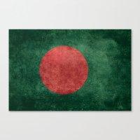 Flag Of Bangladesh - Vin… Canvas Print