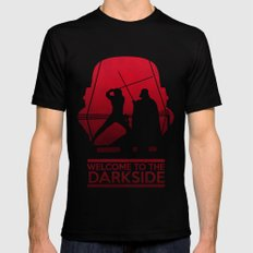 Welcome to the dark side SMALL Black Mens Fitted Tee