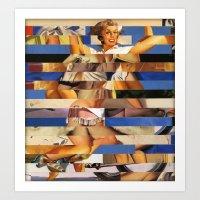 Glitch Pin-Up Redux: Que… Art Print
